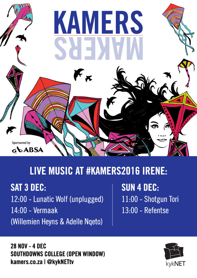 Live music at KAMERS/Makers 2016 Irene, Pretoria - www.kamers.co.za