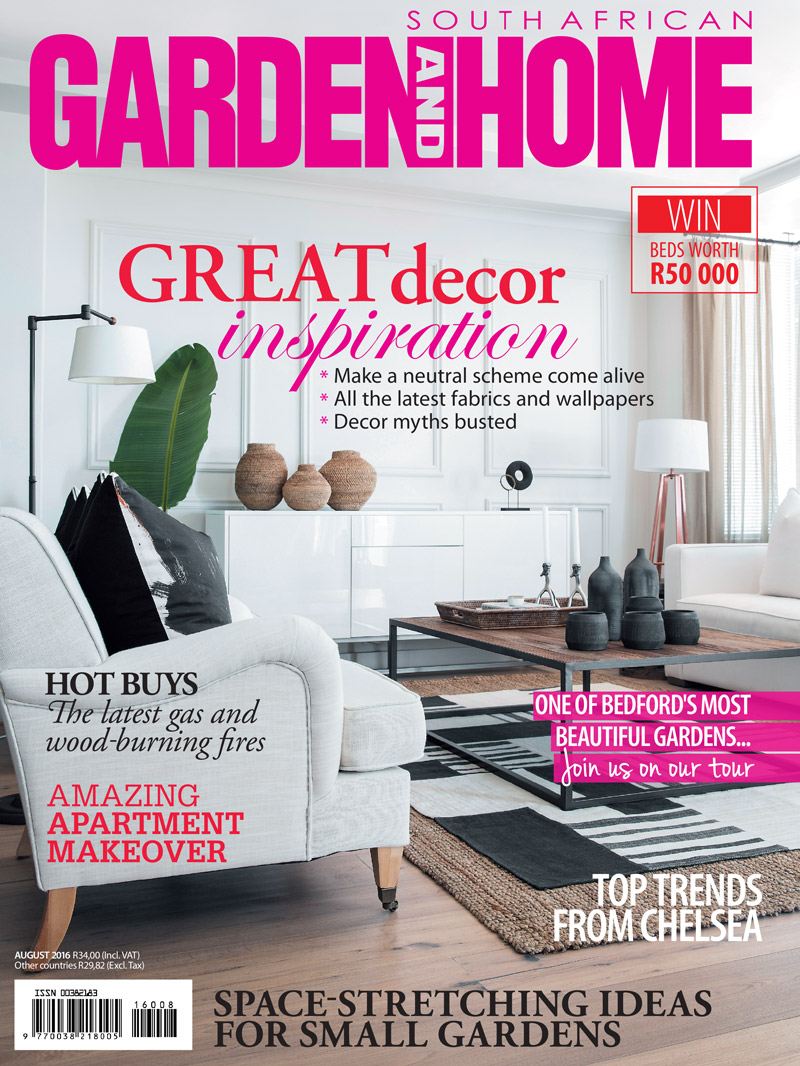 Garden and home magazine -  Garden Home August 2016 Cover Kamers Co Owner Magdel Kemp Featured