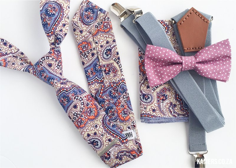 Harvey Max skinny ties, bow ties and suspenders at KAMERS/Makers - www.kamers.co.za